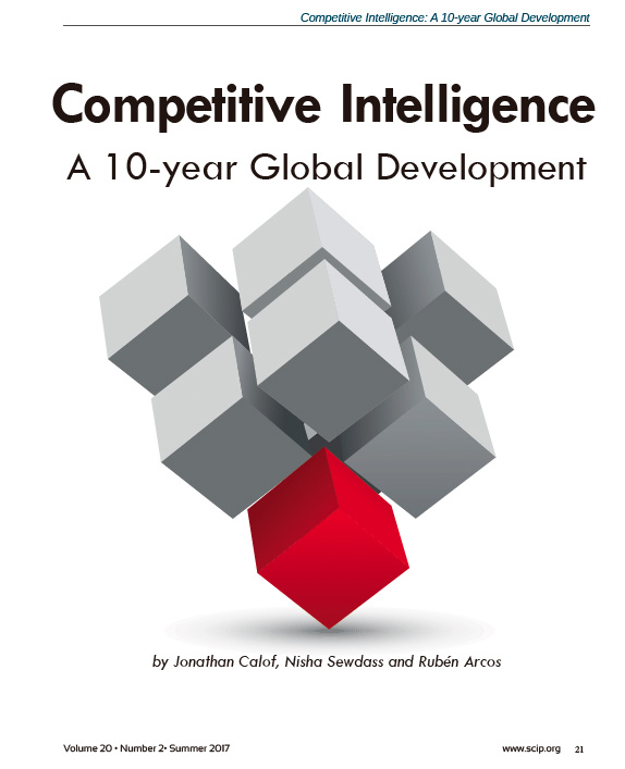 Competitive Intelligence a 10 year global development