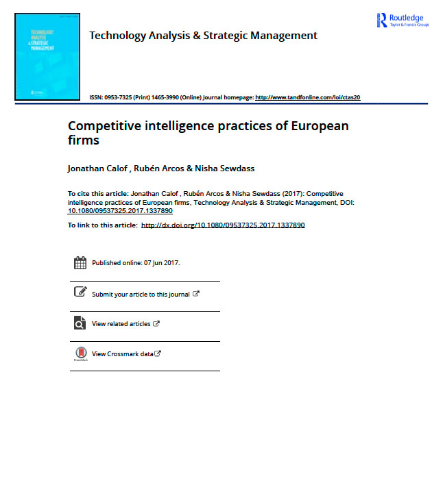 Competitive intelligence practices of European firms