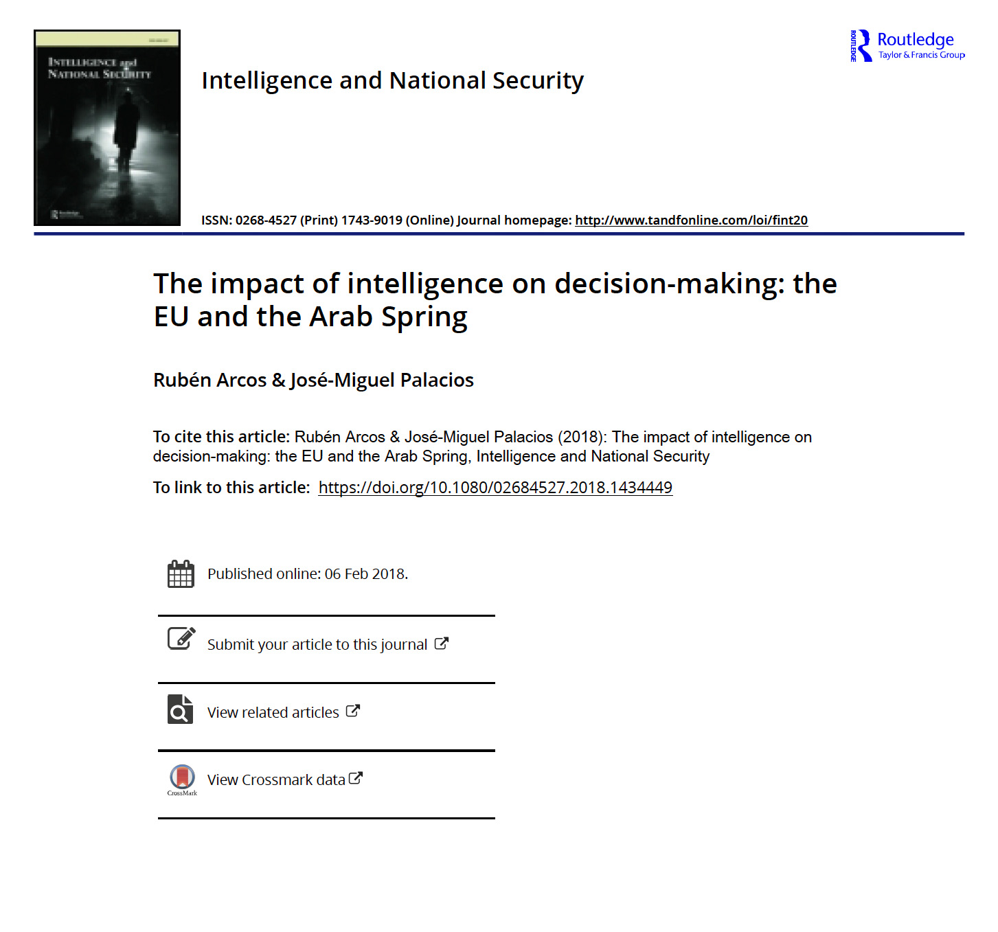 The impact of intelligence on decision-making: the EU and the Arab Spring