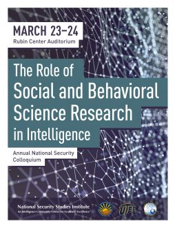The Role of Social and Behavioral Science research in Intelligence
